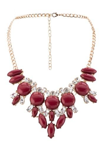 壓克力磨光珠寶閃鑽項鍊, 飾品配件zalora 包包評價, 項鍊