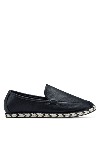 ZALORA black Faux Leather Espadrilles 395DDSHE9E6C79GS_1