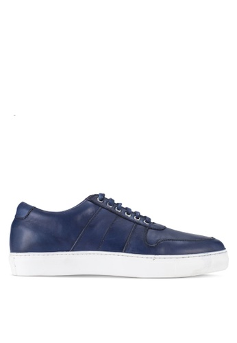 Acuto navy Leather Sneakers AC283SH88AJFMY_1