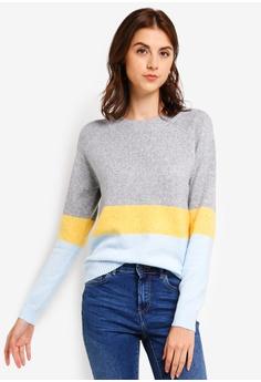 3b50ac0962ec37 Vero Moda grey Doffy Colorblock Sweater 76DEEAA4F2AD0FGS 1