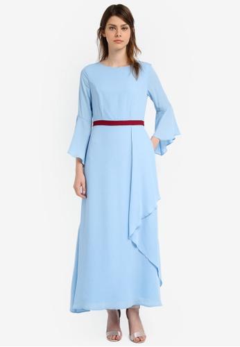 Zalia blue Contrast Waistband Maxi Dress 924AEAA32B4CE3GS_1