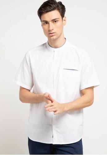Tripl3 Jeans white Kemeja Koko Lengan Pendek Regular Fit F87BAAA2E614C3GS_1
