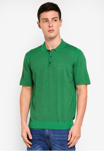 Armani Exchange green Clean Sweater Polo FBBE7AA3A0B77CGS_1