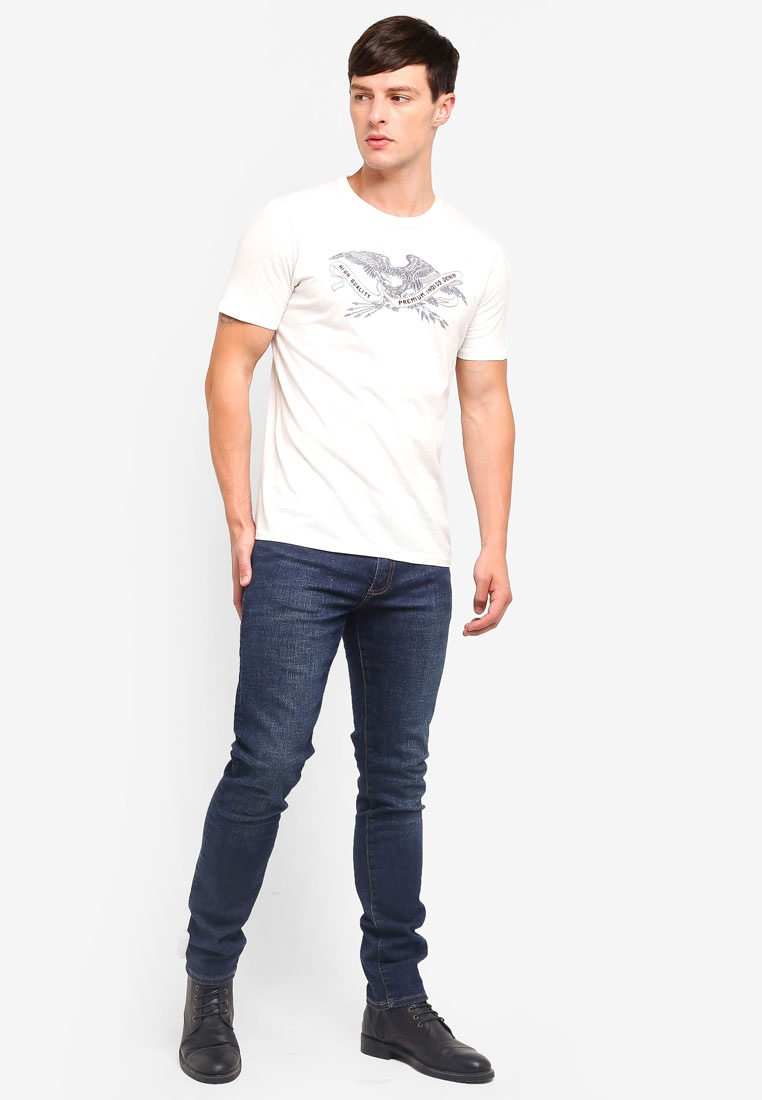 Dancer Crew amp; Fit Tee Slim Cloud Jack Jones Neck 6qA6z