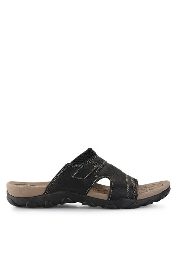 Homyped black Sienta 02 Men Sandals HO842SH14PWVID_1