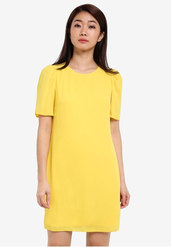 Dorothy Perkins yellow Petite Yellow Shift Dress DO816AA0RSOZMY_1