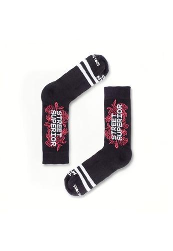 Talking Toes black Talking Toes x Street Superior Floral Socks 8F0C6AA64F903FGS_1