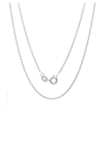 Elfi silver 925 Sterling Silver Anchor Link Chain Necklace EL186AC80MWLMY_1