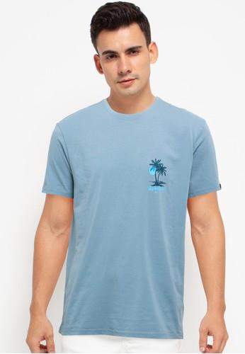 Quiksilver blue Summer Guest Short Sleeve Tee 142C6AAA4F761DGS_1
