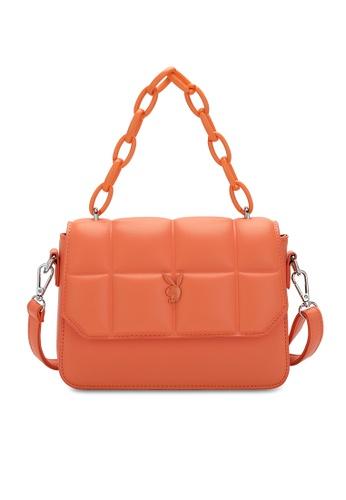 PLAYBOY BUNNY orange Quited Sling Bag 54BFCAC06D5D29GS_1