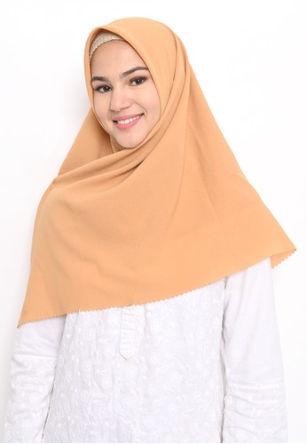 My Daily Hijab gold Hijab Segi 4 Laser Cut Diamond Amber 56E7BAA4AC8748GS_1