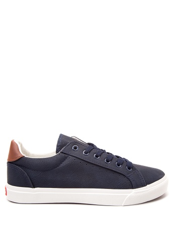 Italianos navy Hendrix Lace Up Sneakers IT153SH38SHHPH_1