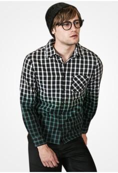 Ombre Checks Plaid Shirt