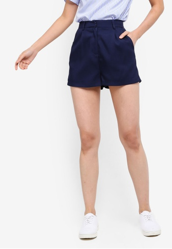 ZALORA BASICS navy Basic Tailored Shorts F2525AA999B64BGS_1