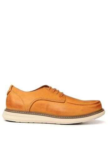 Twenty Eight Shoes 黃色 男裝擦色真皮皮鞋 MC9016 C01A4SHE5F989EGS_1