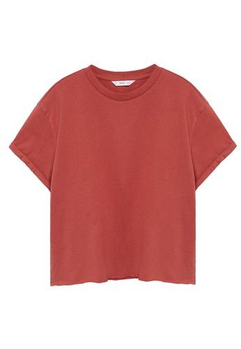 MANGO KIDS red Organic Cotton Essential T-Shirt 99F82KAFABDBF9GS_1