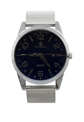 Chronomart silver Men's Dress Dial Stainless Steel Mesh Chain Strap Wrist Watch ORK-0352 8D187AC70DAB5CGS_1