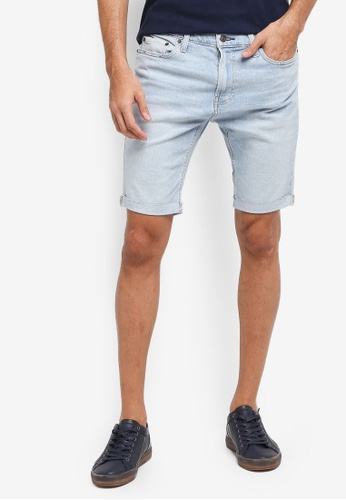 Hollister blue Denim Super Skinny Clean Shorts 1EBEAAA1DAABFFGS_1