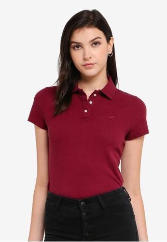 Hollister red Core Polo Shirt 36654AA37E33AEGS_1