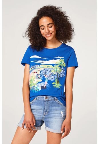 ESPRIT blue T-Shirts short sleeve 749C1AA4984C2BGS_1