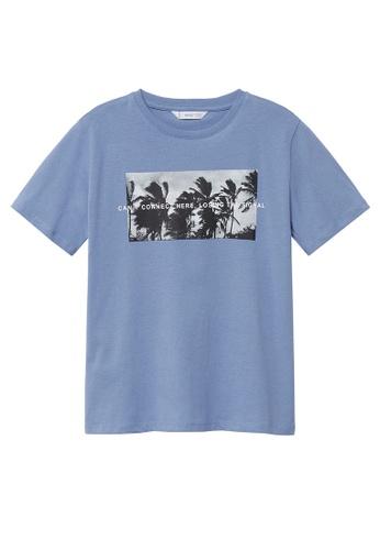 MANGO KIDS blue Organic Printed Cotton T-Shirt 19383KADFB5DABGS_1