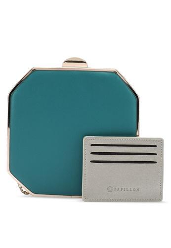 Papillon Clutch blue Octagonal Box Clutch D1007AC3DF9B2FGS_1