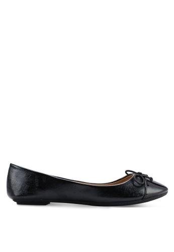 Carlton London 黑色 蝴蝶結平底鞋 6362BSH93A3578GS_1