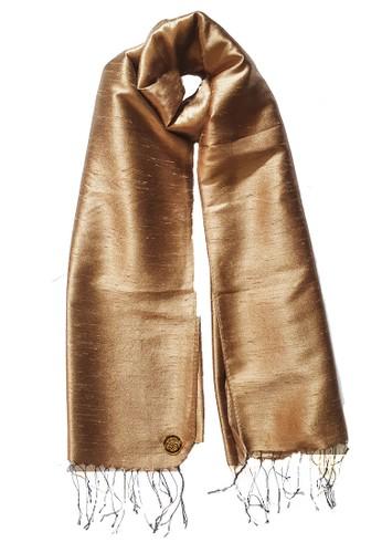 San Marco gold Glamour Raw Silk Pashmina Gold 52B52AAB4E2F6FGS_1