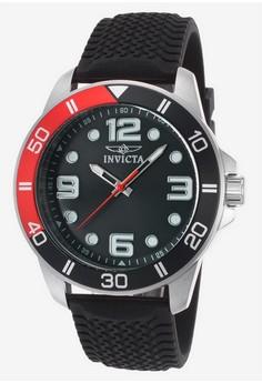 Pro Diver Men 45mm Case Polyurethane Strap Dial Quartz Watch 21851