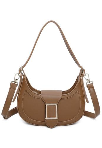 Milliot & Co. 褐色 Lillian Shoulder Bag 74B0BACDB9B6B3GS_1