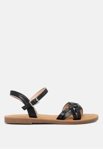 London Rag 黑色 带可调平底凉鞋 C9448SH2412012GS_1
