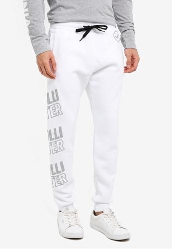 Hollister white Printed Logo Sweatpants 9D9D7AA791398FGS_1