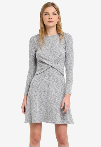 Dorothy Perkins grey Twist Front Dress DO816AA0S4SGMY_1