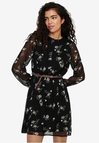 Vero Moda black Fallie Belt Dress 06391AAD44D8A6GS_1