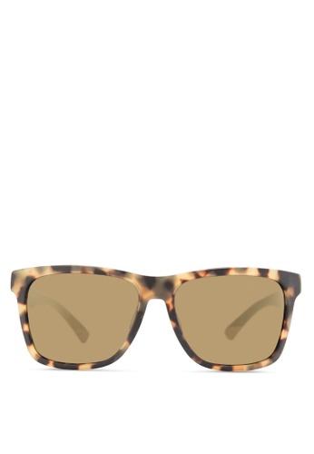 Boss Orange yellow Modern Squared Rubber Sunglasses BO434GL83HSAMY_1