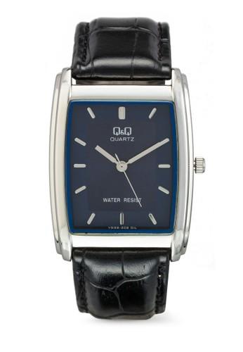 esprit品牌介绍VG32J302Y 方框仿皮手錶, 錶類, 飾品配件