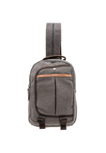 Jack Studio grey Jack Studio Canvas Cross Body Messenger Bag Shoulder Sling Travel Backpack C7D6CAC23BA785GS_1