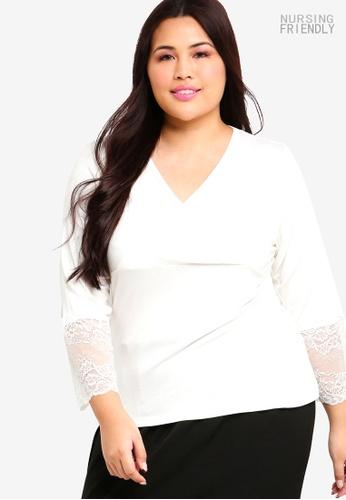 Lubna white Lace Sleeve Nursing Inner 3E950AAEDB957AGS_1