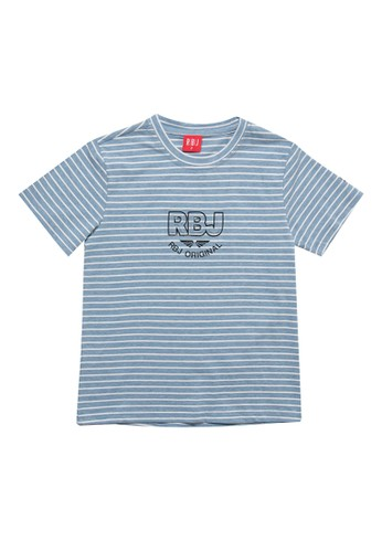 RBJ blue Stripe Pattern Fashion Tee Kids 09A57KAAB5D5F3GS_1