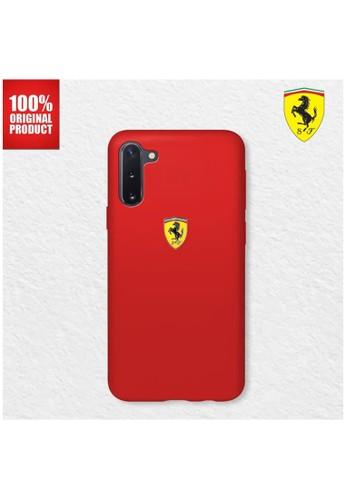 Ferrari red Casing Samsung Note 10 On Track SF Silicone Ferrari - Red BE5C4ES49ECA75GS_1