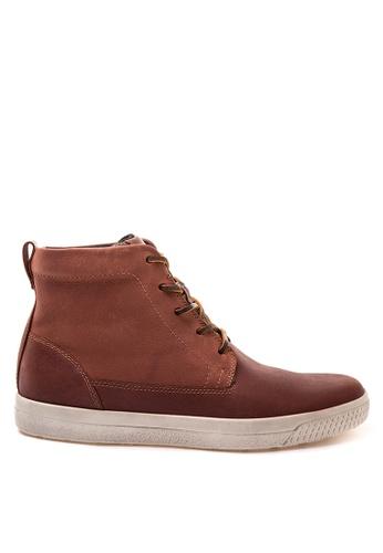 ECCO brown Ethan Lace up Sneakers EC876SH83VIAPH_1
