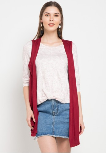 Exit red and multi 2In1 Shirt With Knot Detail 354C7AAC365987GS_1