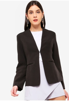79699272779 ZALORA black Open Blazer D2754AA5BB92B9GS 1