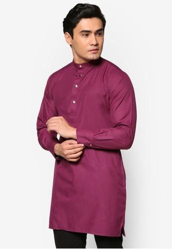 Murzaman purple Kurta Salam MU501AA65DJEMY_1