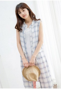[IMPORTED] Plaid Superstar Cotton Dress - Navy