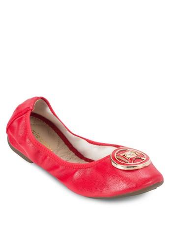 Florissa 扣環仿皮平底鞋esprit分店, 女鞋, 鞋