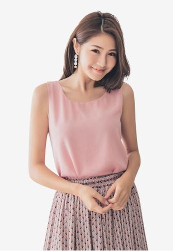 Tokichoi pink Sleeveless Chiffon Top C3AE4AA48B2FCAGS_1