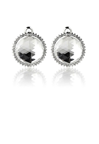 Glamorousky silver Elegant Earrings with Silver Crystal Glass and Silver Austrian Element Crystal 2CE43AC23FFAB7GS_1