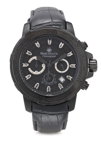 René Mouris black Traveller - 49mm Quartz Chrono Watch 1B7DBACC1DD437GS_1