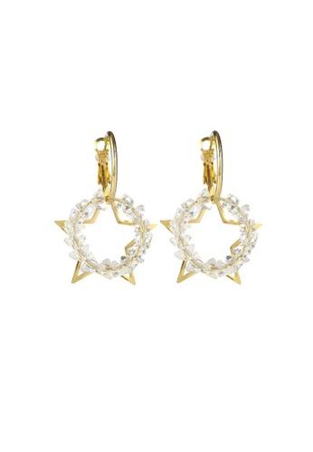 Atrireal gold ATRIREAL - Desiree Star Drop Earrings 737B3AC637F8ABGS_1